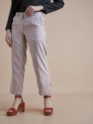 D'BASIC Side Split Hem Trousers