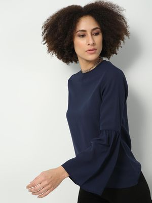 D'BASIC Round Neck Long Sleeve Top