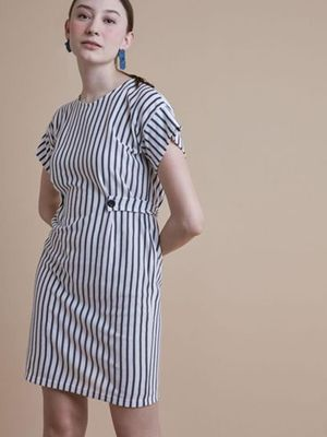 MERAKI Stripe Down Maxi Dress