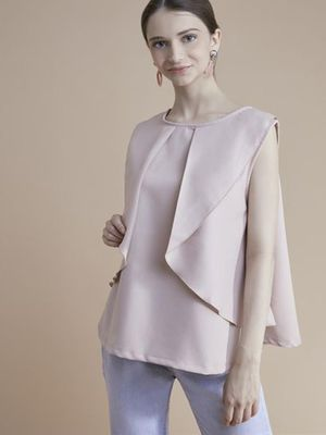 MERAKI Layered Round Neck Top