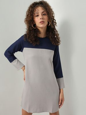 MERAKI Colour Block Mini Shift Dress