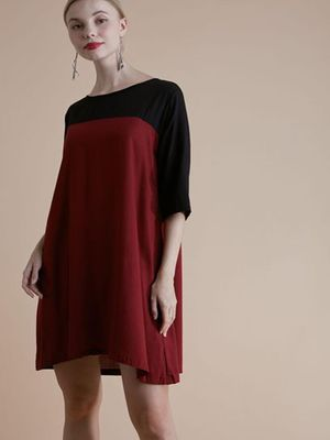 MERAKI Colour Block Shift Dress