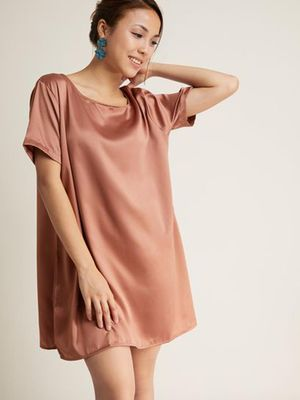 MERAKI Oversized Mini Shift Dress