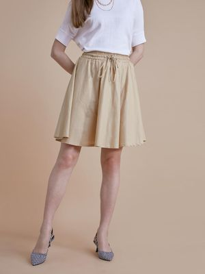 D'BASIC Casual Skater Mini Skirt