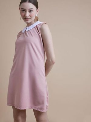 MERAKI Peter Pan Collar Shift Dress