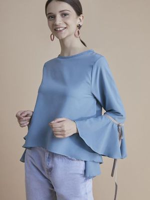 MERAKI Round Neck Long Sleeve Top