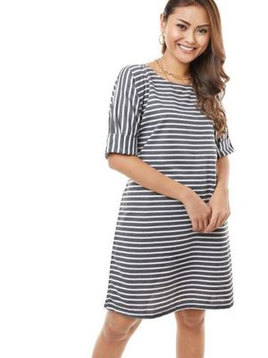 MERAKI Horizontal Stripe Shift Dress