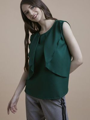 MERAKI Round Neck Layered Top