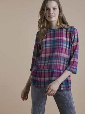 MERAKI Madras Check Cut & Sew Blouse