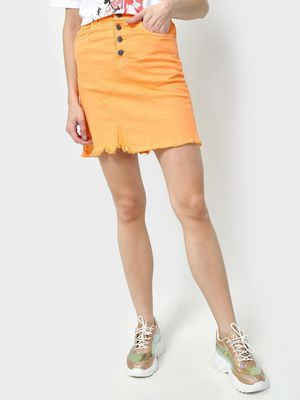 Freakins Basic High Waisted Mini Skirt