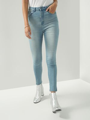 Freakins Light Wash Skinny Fit Jeans