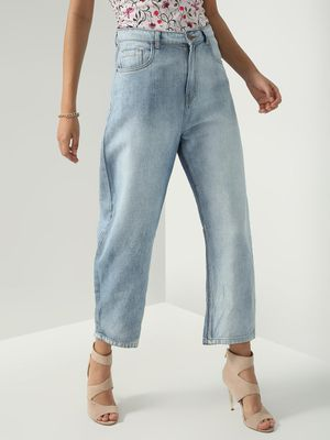 Freakins Acid Wash Loose Fit Jeans