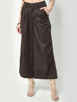 Freakins High-Waist Pleated Palazzo Pants