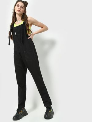Freakins Loose Fit Denim Dungaree