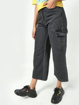 Freakins Basic Cropped Relaxed Fit Pants