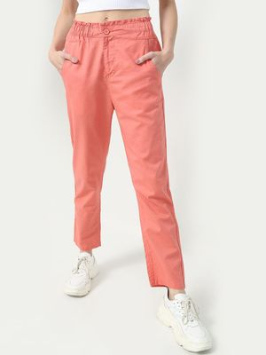 Freakins Smart Paperbag Waist Trousers