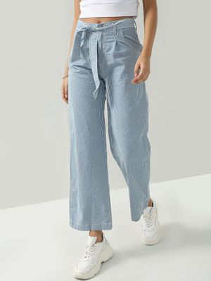 Freakins Belted Vertical Stripe Pants