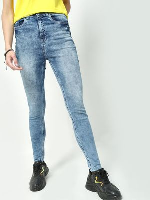 Freakins Acid Wash Skinny Fit Jeans