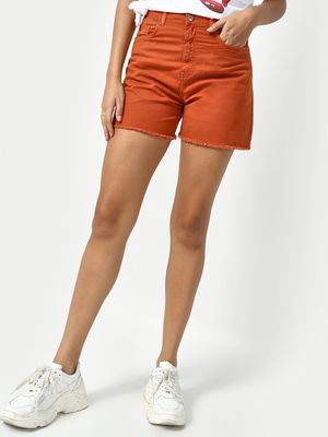 Freakins Rust Casual Day Shorts