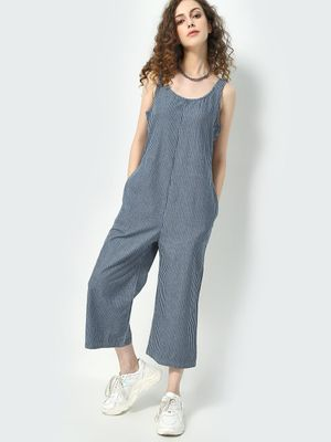 Freakins Striped sleeveless Jumpsuit
