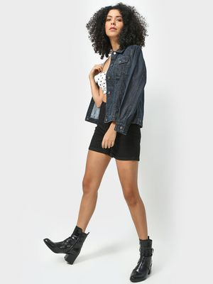 Freakins Roll up Hem Denim Shorts