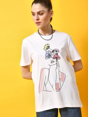 KOOVS Basic Graphic Print T-shirt