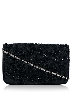 DIWAAH Floral Sequin Box Clutch Bag