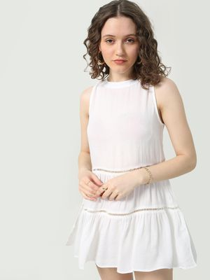 MWB Tie-Knot Sleeveless Midi Dress