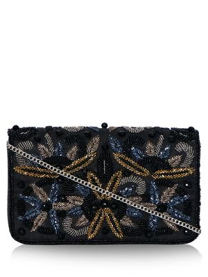 DIWAAH Smart Floral Sequin Clutch Bag