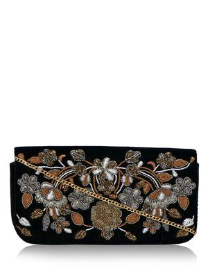 DIWAAH Floral Sequin Clutch Bag