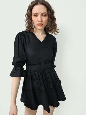 MWB Pleated Skater Dress