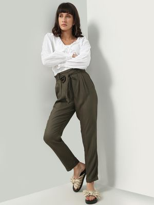 Oxolloxo Solid Tie Knot Trousers