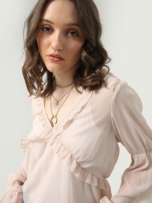 Oxolloxo Pleated Bella Top