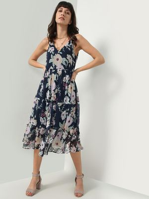 Oxolloxo All Over Floral Print Maxi Dress