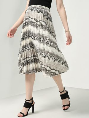 Oxolloxo Graphic Print Midi Skirt