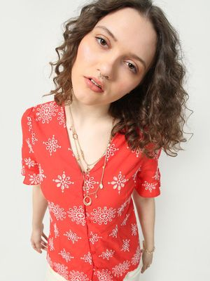 Oxolloxo Printed Flare Top