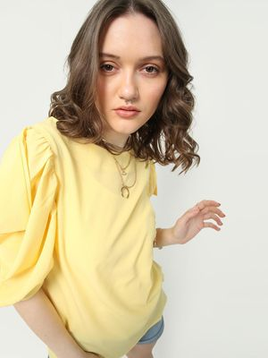 Oxolloxo Sunshine Vibe Frill Sleeves Top