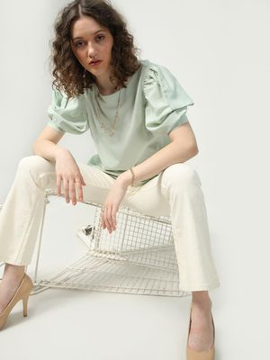 Oxolloxo Casual Frill Sleeves Top