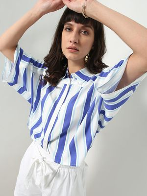 Oxolloxo Stripe Print Casual Shirt