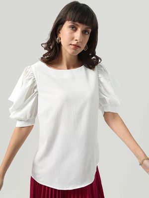 Oxolloxo Short Cowl Sleeve Regular Fit Top