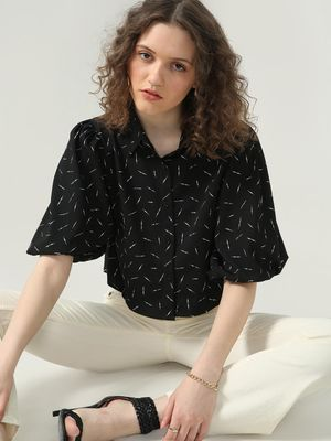 Oxolloxo All Over Print Crop Shirt