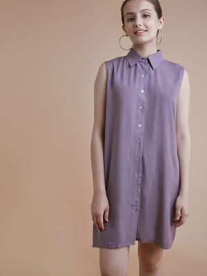 MERAKI Button-Down Shirt Dress