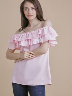 MERAKI Solid Off-Shoulder Blouses