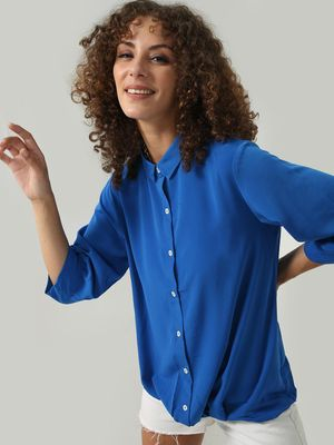 D'BASIC Overdyed Button-Down Collared Top
