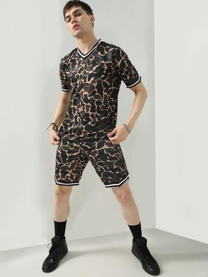 FUGAZEE Camo Print Slim Fit Shorts