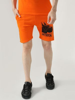 FUGAZEE Placement Printed Taped Shorts
