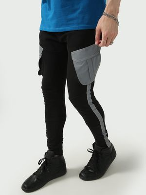 FUGAZEE Side Tape Cargo Pocket Jog Pants