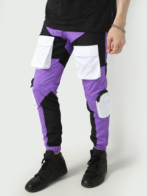 FUGAZEE Color Block Cargo Pocket Jog Pants