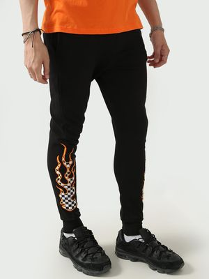 FUGAZEE Patch Checkered Flame Jog Pants