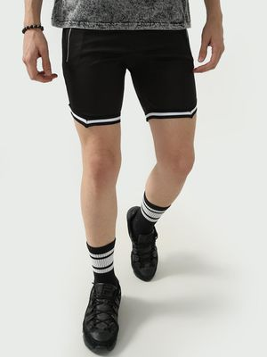 FUGAZEE Elasticated Contrast Stripe Shorts